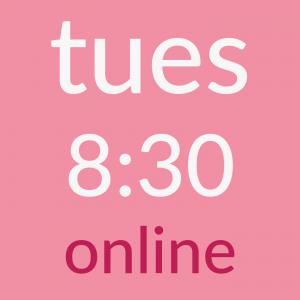 tues 8:30am online